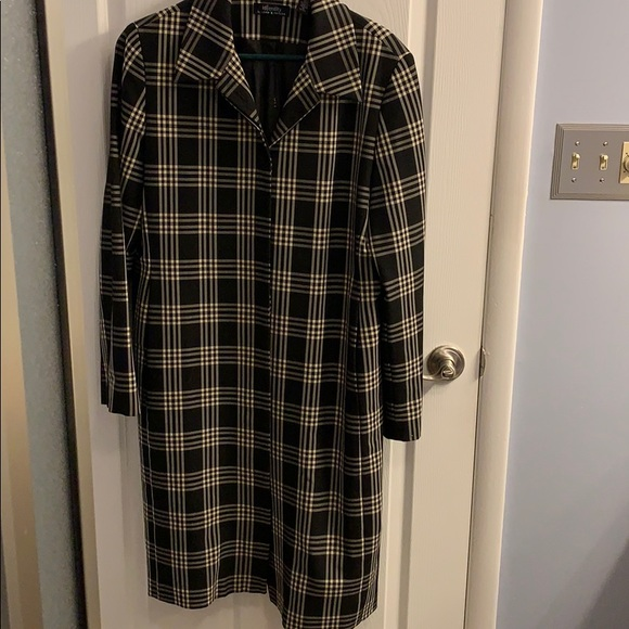 Lord & Taylor Jackets & Blazers - Identity Lord & Taylor Plaid Trench Coat